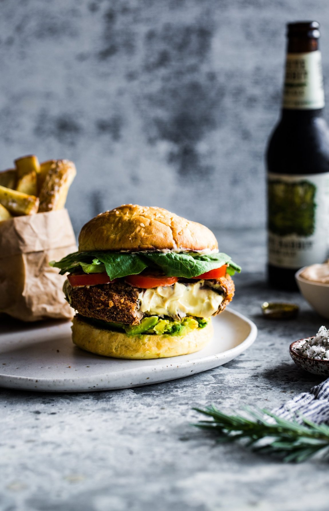 The Ultimate Vegan Portobello Mushroom Burger | The Floured Kitchen