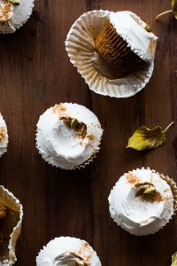 Vegan Chai Spiced Cupcakes + Maple Whipped Coconut Cream Frosting | The Floured Kitchen