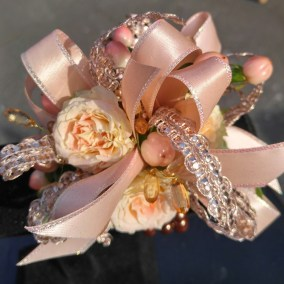 Prom Corsage Peach Flowers
