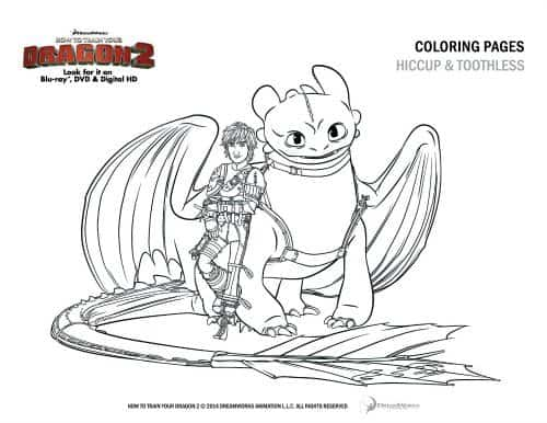 How To Train Your Dragon 2 Family Movie Coloring Page