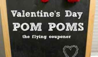 Valentine's Day Pom Poms #DIY