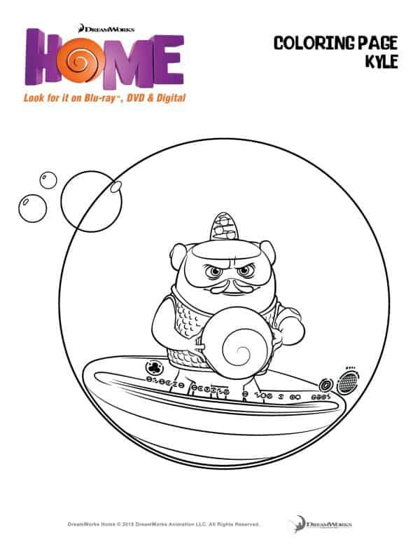 You Must See Dreamworks Animations Home Coloring Page Kyle The Flying Couponer