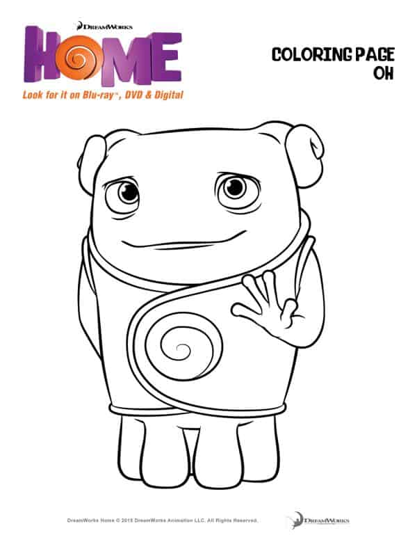 You Must See Dreamworks Animations Home Coloring Page Oh The Flying Couponer