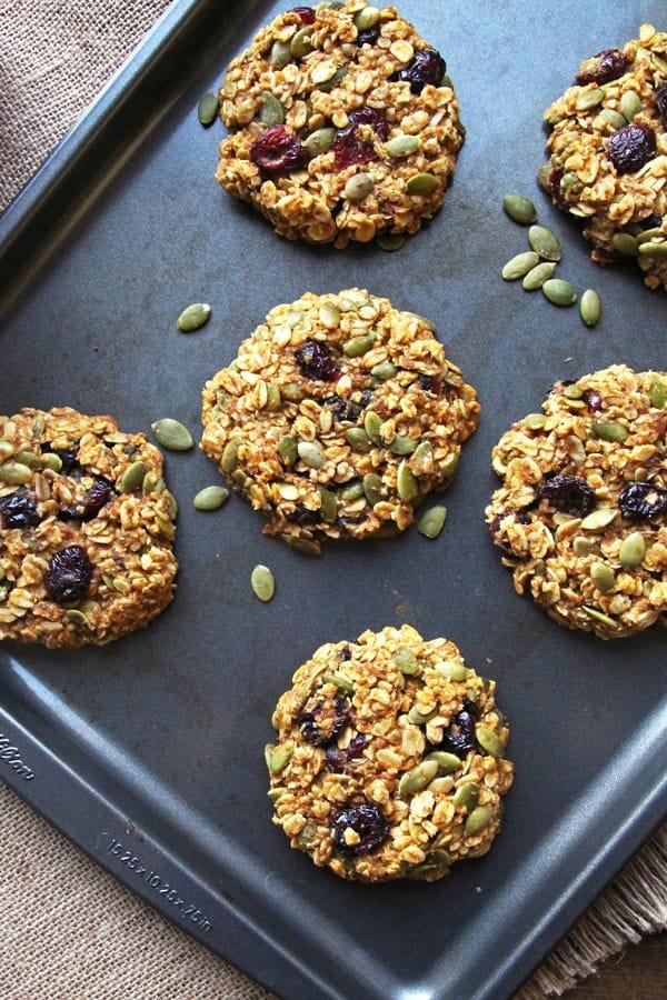 Healthy Breakfast Recipes. Healthy-Pumpkin-Breakfast-Cookies.
