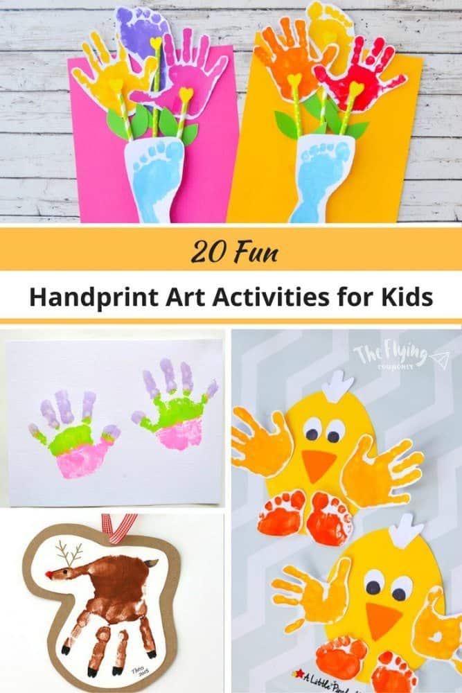 Handprint Art Activities for kids. The Flying Couponer.