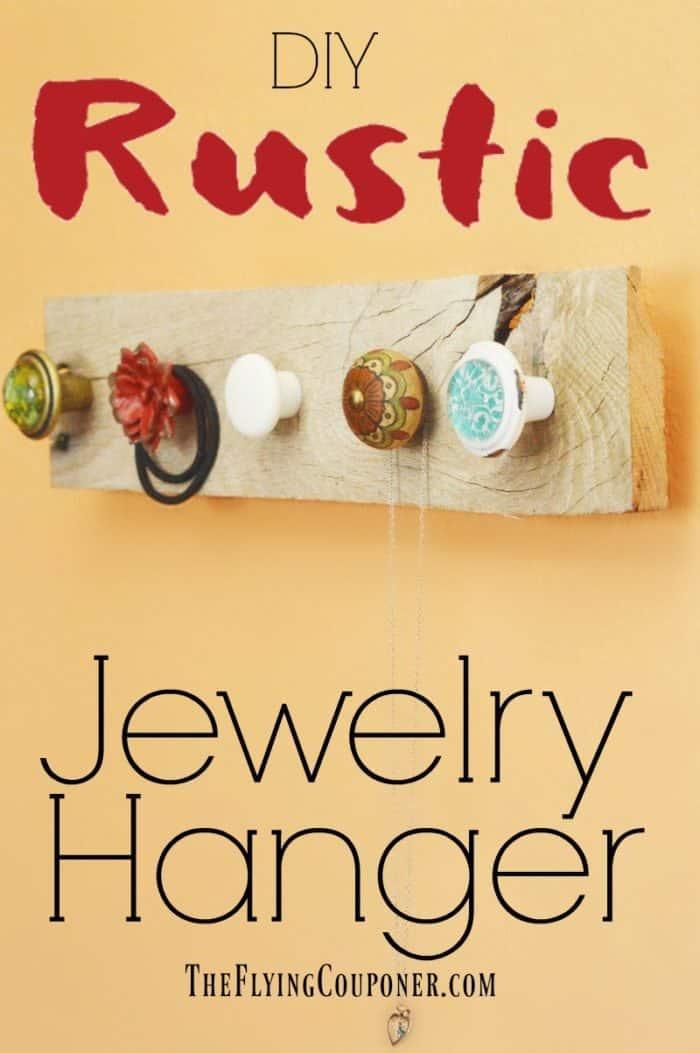 DIY Rustic Jewelry Hanger