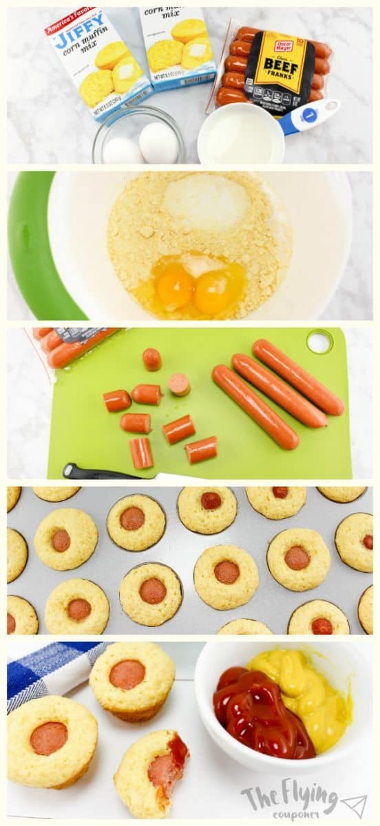 Easy Homemade Corndog Bites