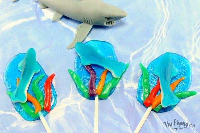 Make These Fun Shark Suckers