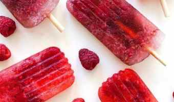 Sparkling Cherry Champagne Pops