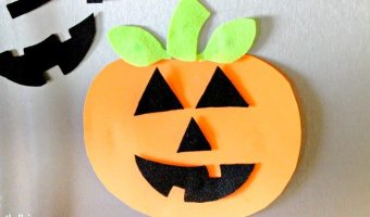 Pumpkin Foam Faces Fridge Magnets