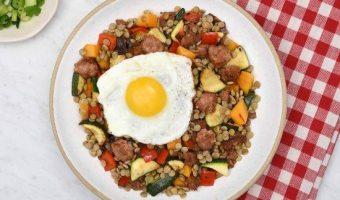 Hearty Turkey Lentil Breakfast Bowl & Giveaway #getBTSready