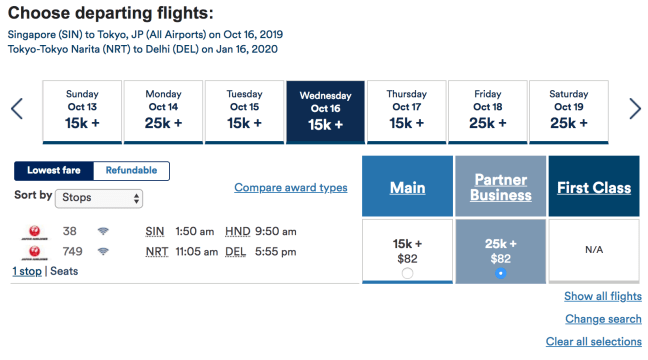 Alaska Airlines Intra-Asia Booking