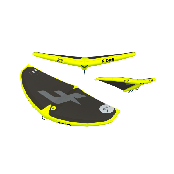 F-one Swing kite wing in lime black