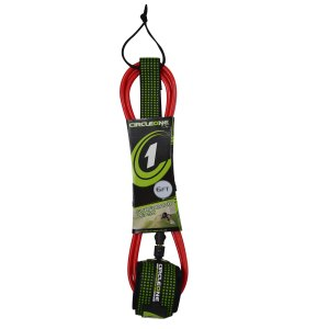 Circle One surf leash red 6ft