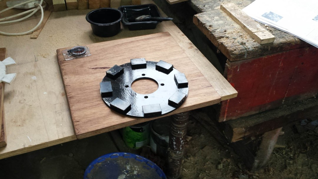 03 Magnet Rotor With Magnets In Place