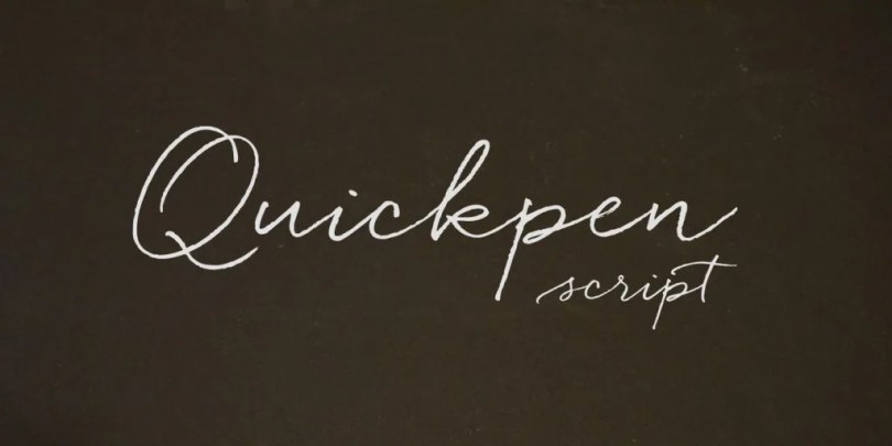 Quickpen [1 Font]   The Fonts Master