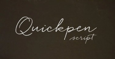 Quickpen [1 Font] | The Fonts Master