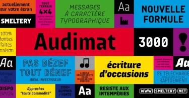 Audimat 3000 [8 Fonts] | The Fonts Master