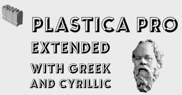 Plastica Pro [2 Fonts] | The Fonts Master
