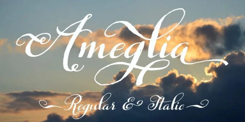 Ameglia [2 Fonts]   The Fonts Master