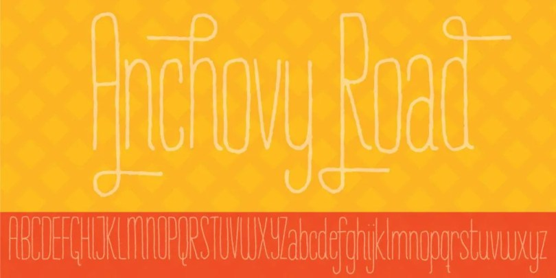 Anchovy Road [1 Font] | The Fonts Master