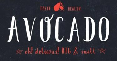 Avocado [1 Font] | The Fonts Master