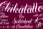 Chika Tattoo [12 Fonts] | The Fonts Master