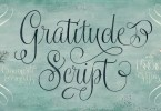 Gratitude Script [5 Fonts] | The Fonts Master