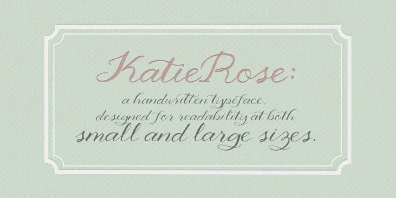 Katie Rose [1 Font] | The Fonts Master