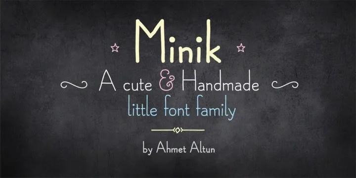 Minik [2 Fonts]   The Fonts Master