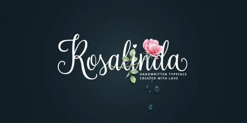 Rosalinda Script [1 Font] | The Fonts Master