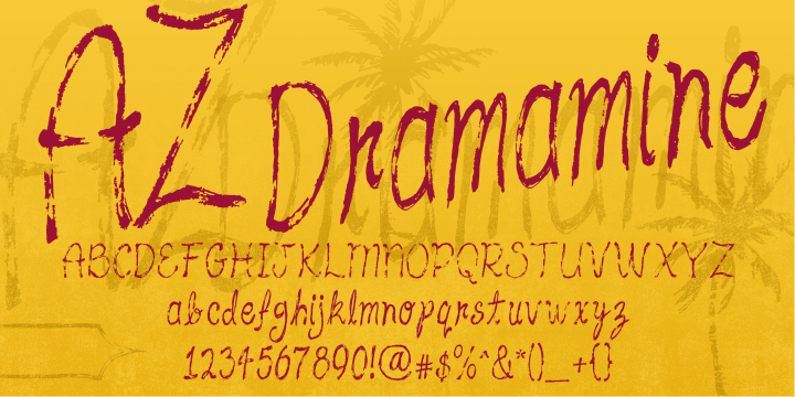 Az Dramamine [1 Font]   The Fonts Master