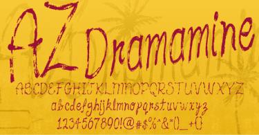 Az Dramamine [1 Font] | The Fonts Master