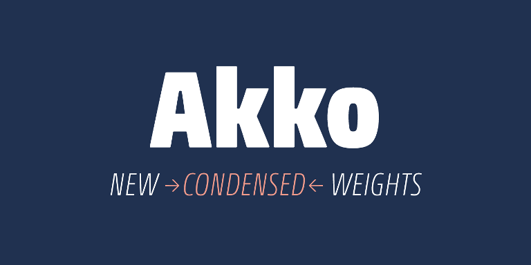 Akko Pro Condensed Super Family [12 Fonts]   The Fonts Master