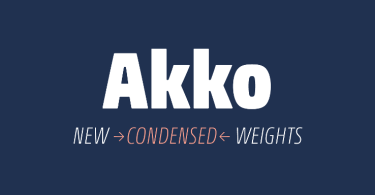 Akko Pro Condensed Super Family [12 Fonts] | The Fonts Master
