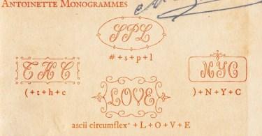 Antoinette Monogrammes [1 Font] | The Fonts Master