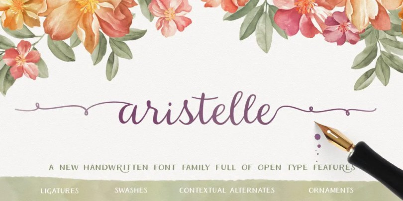 Aristelle [3 Fonts]   The Fonts Master
