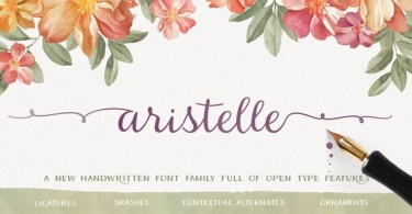 Aristelle [3 Fonts] | The Fonts Master