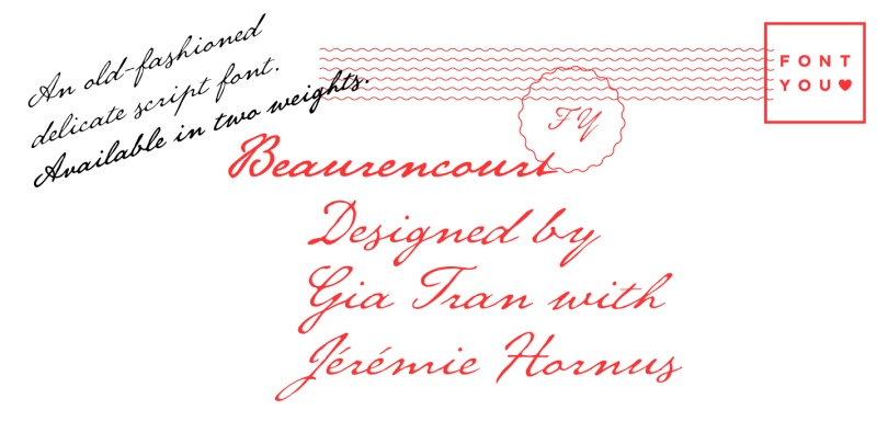 Beaurencourt Fy [2 Fonts] | The Fonts Master