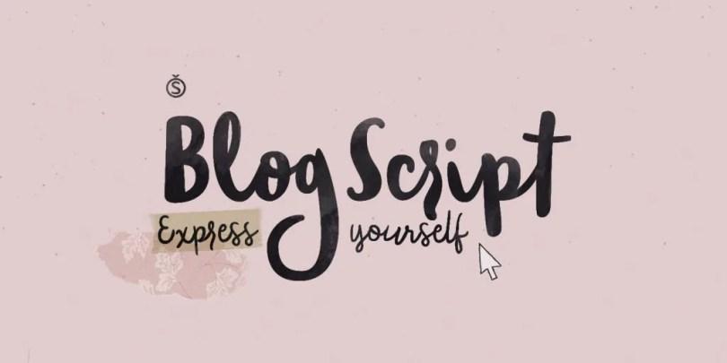 Blog Script [2 Fonts] | The Fonts Master