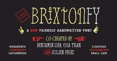 Brixton FY [5 Fonts] - The Fonts Master