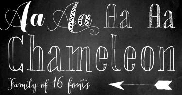 Chameleon [16 Fonts] | The Fonts Master