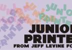 Junior Printer Jnl [1 Font] | The Fonts Master