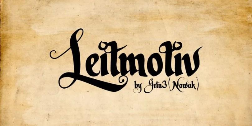Leitmotiv [2 Fonts] | The Fonts Master