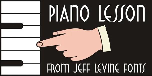 Piano Lesson Jnl [1 Font] | The Fonts Master