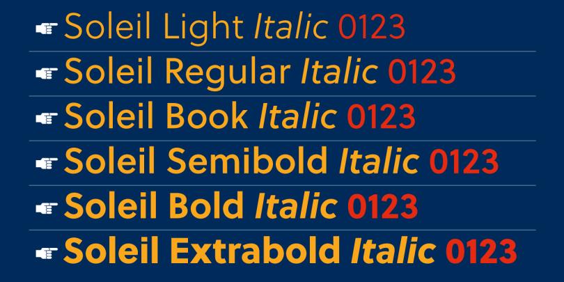 Soleil [12 Fonts]   The Fonts Master