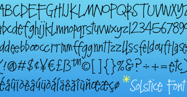 Solstice [1 Font] | The Fonts Master