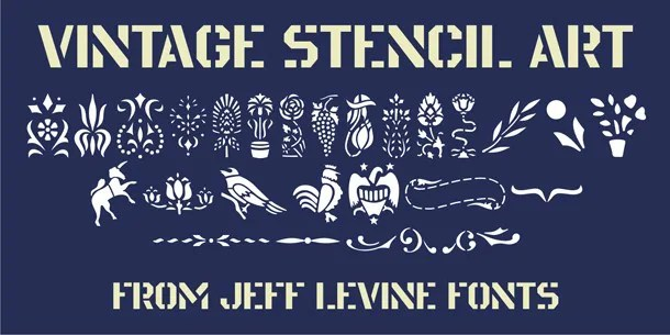 Vintage Stencil Art Jnl [1 Font] | The Fonts Master