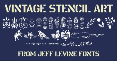 Vintage Stencil Art Jnl [1 Font] | The Fonts Master
