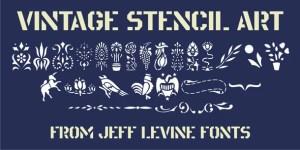 Vintage Stencil Art Jnl
